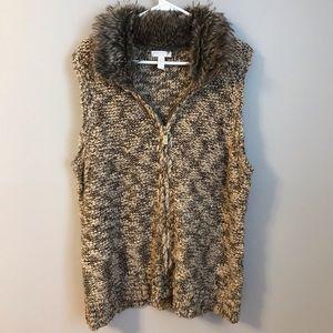 Charter Club Fur Sweater Vest